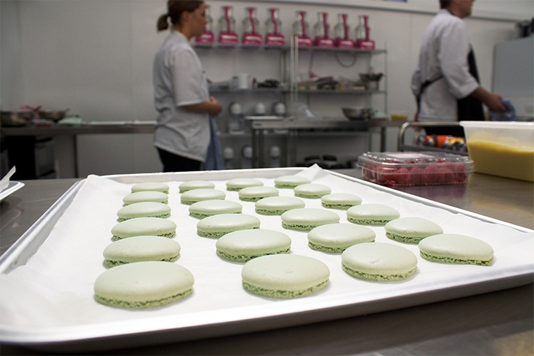 Macarons on a tray