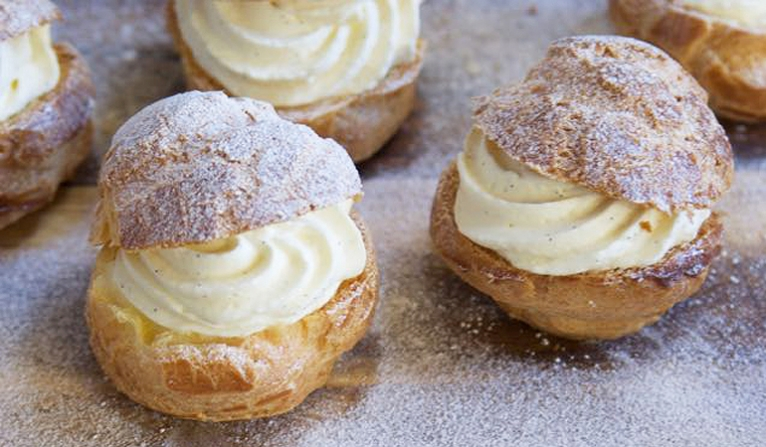 Selection of choux buns